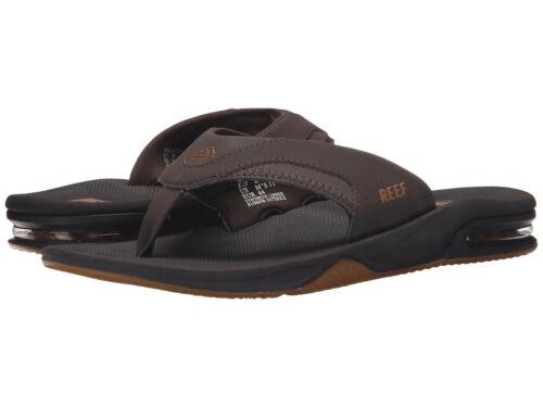 New Reef Men/'s FANNING LOW Bottle Opener Flip Flop Sandal Thong RF002026 Brown