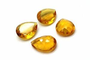 Natural-Citrine-Teardrop-Gemstone-Pear-Shape-Faceted-Wholesale-Yellow-Quartz-Gem