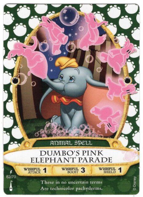 SOTMK DUMBO'S PINK ELEPHANT PARADE card 62  Sorcerers of The Magic Kingdom