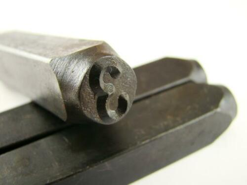 """3//8/"""" Number /""""3/"""" Stamp-Punch-Hand-Tool-Gold Bar-Silver-Trailer-Metal-Leather"""
