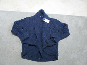 7255535fb2dce NEW Ralph Lauren Polo Cardigan Sweater Girls Medium Kids Youth Knit ...