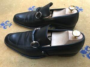 ec02084f1bd Gucci Mens Shoes Black Leather Horsebit Loafers UK 8.5 US 9.5 42.5 ...