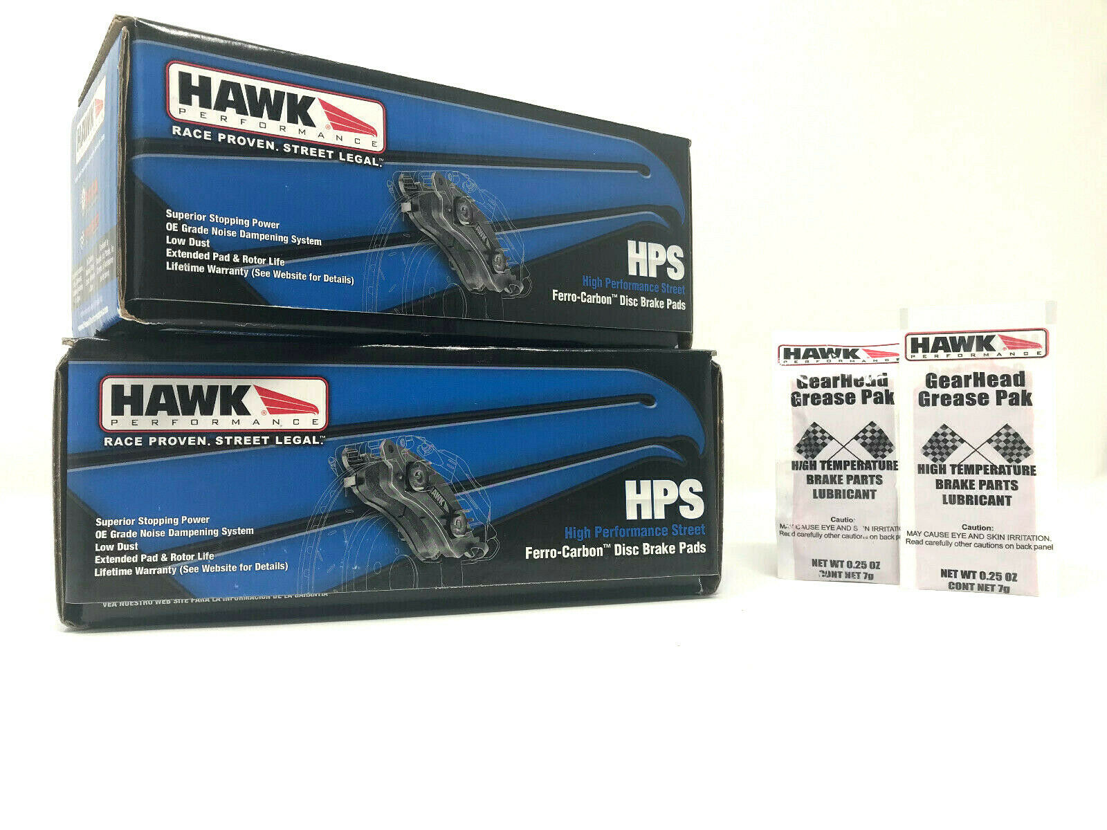 Hawk HPS Front Rear Performance Brake Pads Fits Audi RS4 RS6