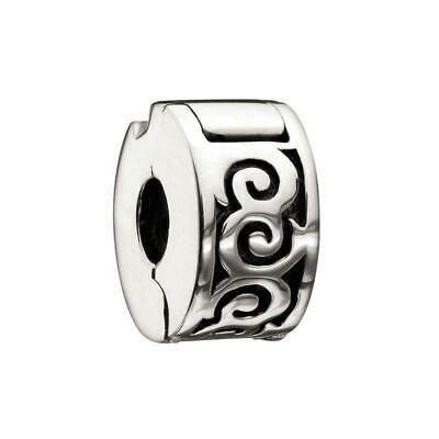 NWT Chamilia HIBISCUS BRIGHT Sterling Silver Freedom LOCK Bead 1420-02 $30
