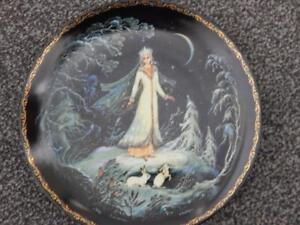RUSSIAN-Legend-Of-The-Snowmaiden-Porcelain-Plate-1-Snow-Maiden-SNEGUROCHKA