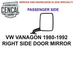VW VANAGON RIGHT SIDE VIEW DOOR MIRROR 1980-1992 251857514