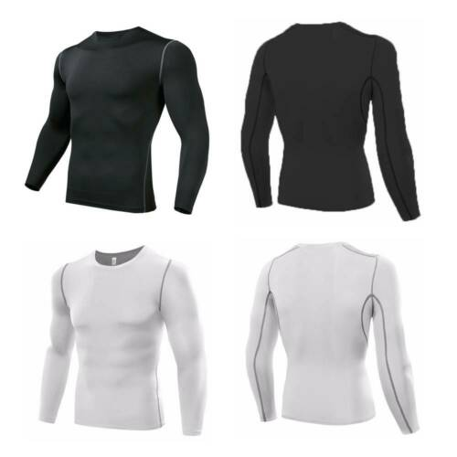 Men/'s Compression Armour Base Layer Top Long Sleeve Thermal Gym Sports Shirt Fit