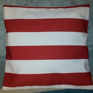 Large Red And White Stripe Ikea Fabric Cushion Cover 14