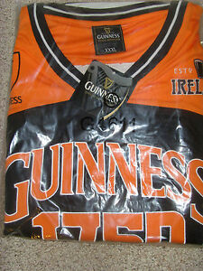 0b62189f5 Image is loading Guinness-Performance-Black-and-Orange-Basketball-Top-Shirt-
