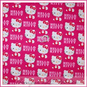 eba1a3d90 BonEful Fabric FQ Cotton Quilt Pink White Red Hello Kitty Girl Dress ...