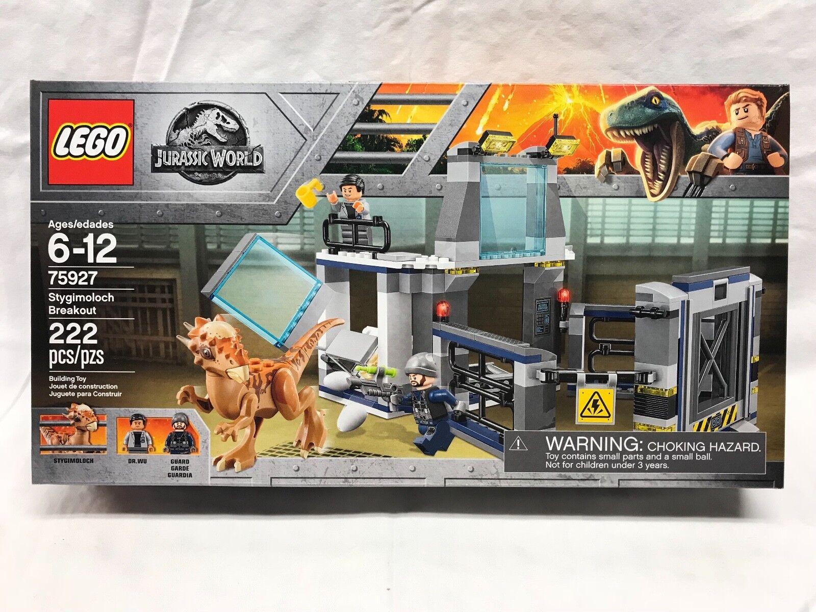 LEGO JURASSIC WORLD STYGIMOLOCH BREAKOUT SET 75927 NEWHARD TO FIND