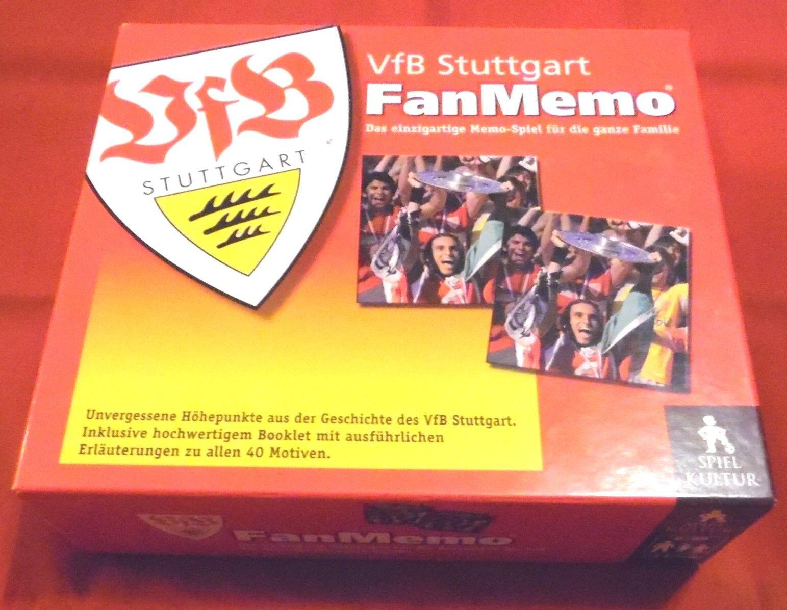 Spiel   VFB Stuttgart Fan Memo , 2008 , 80 BildKarten + 28-seitigem Begleitheft