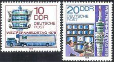 Germany (DDR) 1978 Communications/TV/Radio Tower/Lorry/Transport 2v set (n23860)