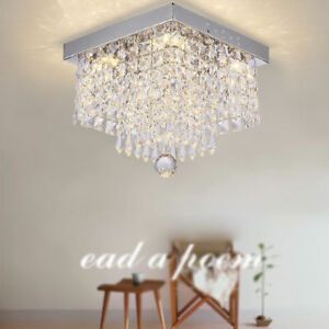 Modern Crystal LED Ceiling Lights Aisle/Hotel Lamp Lighting Chandeliers Home Lighting Ceiling Lights & Chandeliers