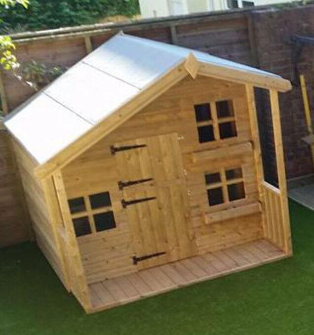 Wooden Garden Summer House Childrens 7 X 5ft Playhouse 26ft Single