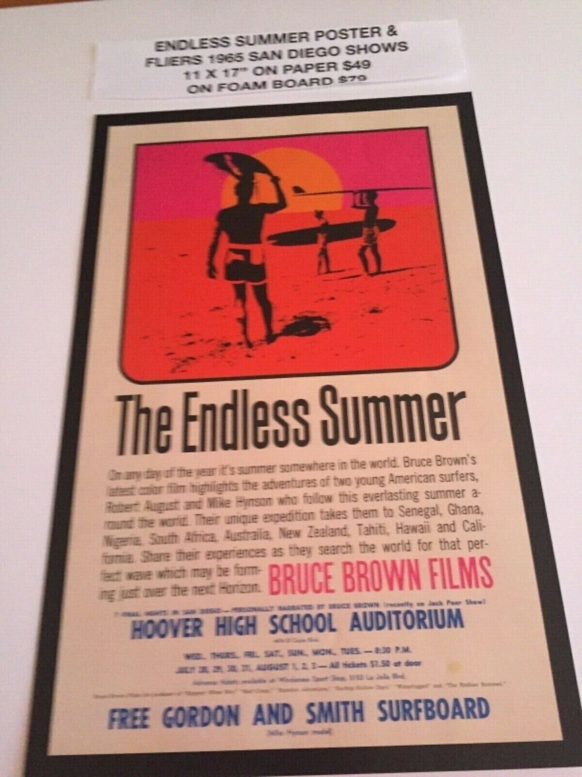 ENDLESS SUMMER 1965 SAN DIEGO MOVIE POSTERS 11 X 17""