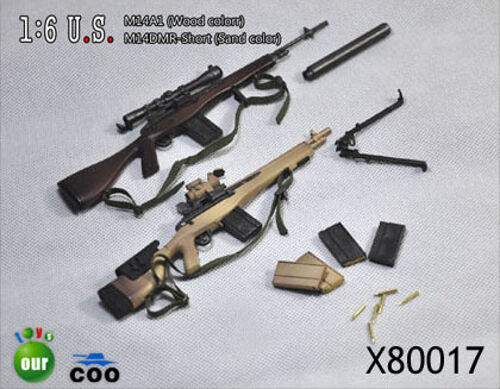 COO COO COO Models 1 6 M14A1 Wood and M14DMR Short Sand Set 001bfe