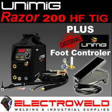 Unimig Razor 200 Dc Hf Tig Welding Kit Welder Torch Regulator Foot Control