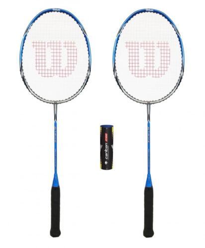 2 x Wilson Strike Badminton Rackets + 6 Shuttlecocks RRP £110