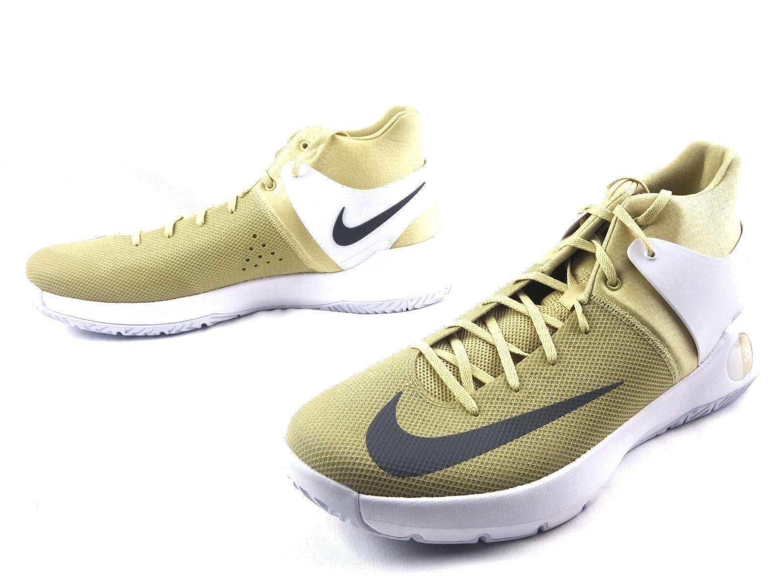 NIKE KD Trey 5 IV 856484-701 Kevin Durant gold WHITE shoes USA Men's Size 17