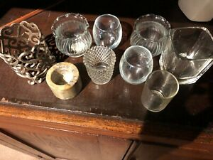 Miscellaneous Votive Candle Holders Glass And Metal 9 Ebay