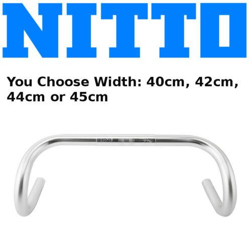 Nitto B115FA 25.4mm Classic Road Bike Handlebar Silver 115 40cm 42cm 44cm 45cm