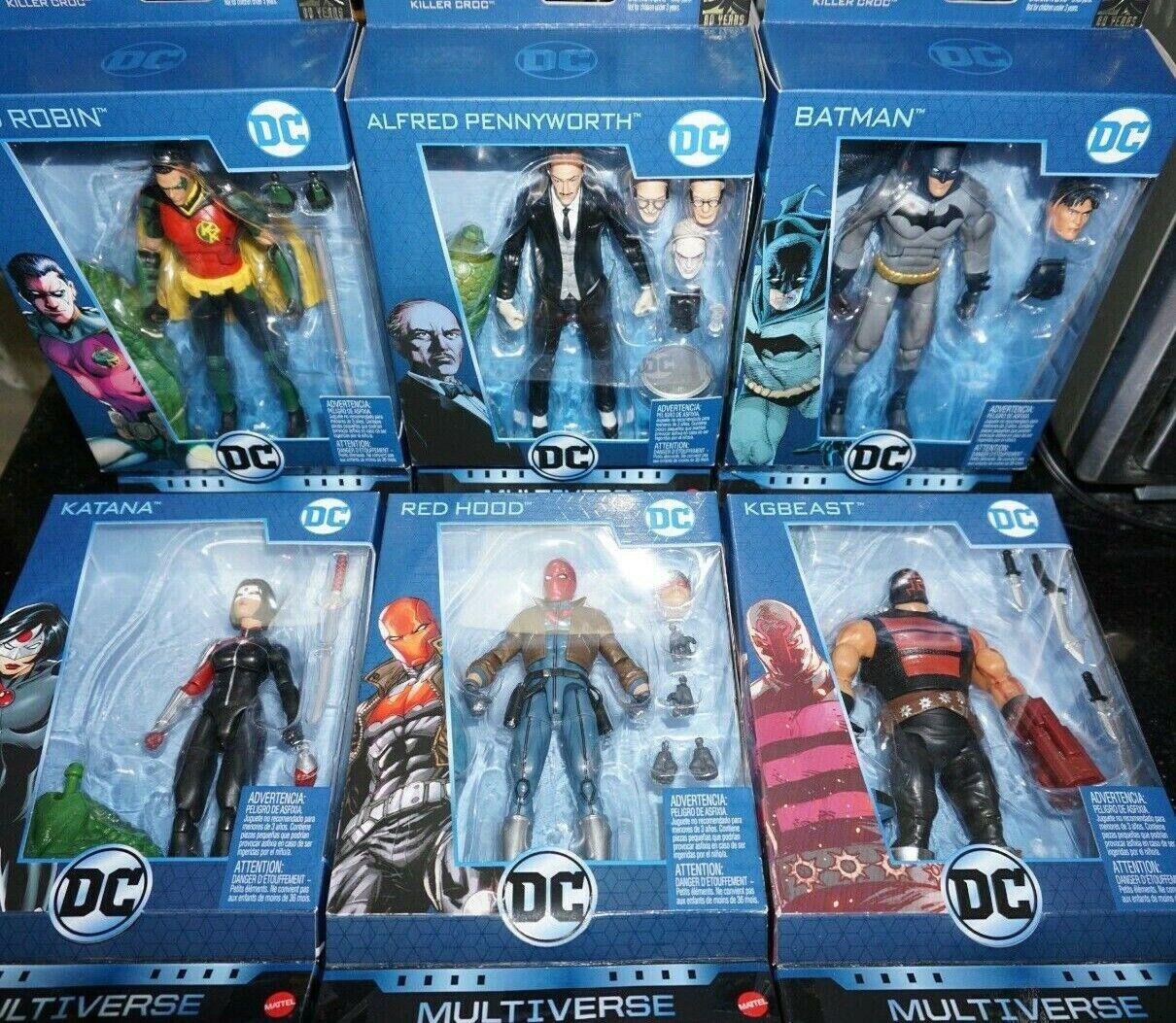 Mattel DC Multiverse 6  Batman 80TH Alfrojo Rojo Capucha KILLER Cocodrilo Baf Nuevo En Stock