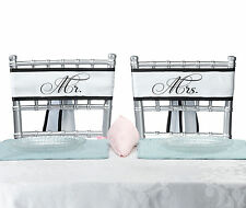 New Mr and Mrs Wedding Chair Sashes Reception Decorations Bride and Groom