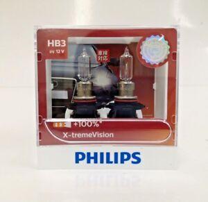 Genuine-Philips-HB3-9005-X-treme-xtreme-extreme-Vision-100-35m-beam-bulbs