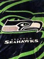 Seattle Seahawks 79 X95 Nfl Royal Plush Queen Size Blanket