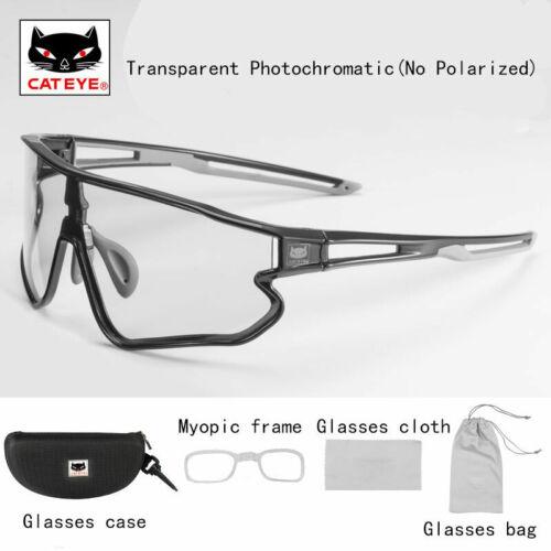 CATEYE Transparent Photochromatic Sunglasses Glasses Eyewear with Myopia Frame