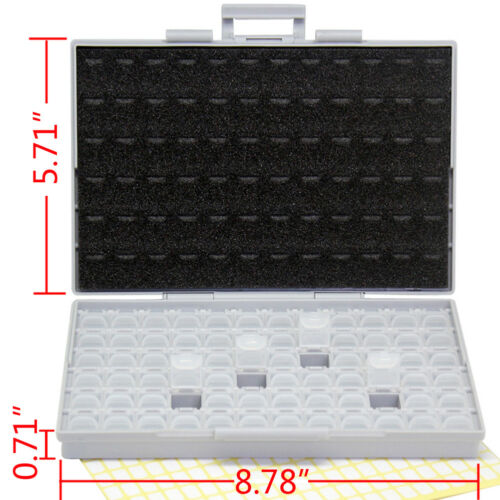 2 of 1206 0805 0603 0402 72 SMD resistor capacitor enclosure storage Organizer