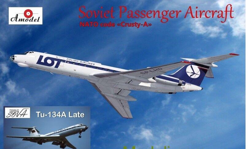 TUPOLEV TU-134A, LATE LOT AEROFLOT AIRLINER 1 72 AMODEL 72249-01