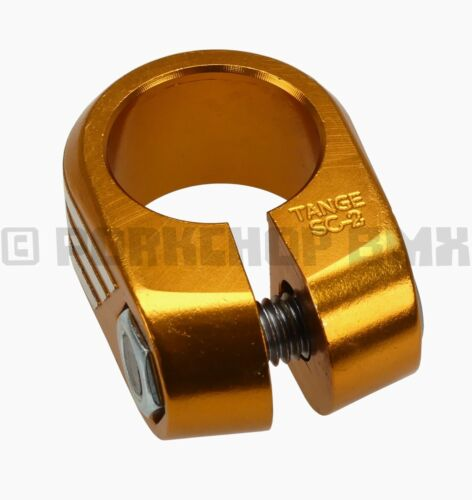 """Tange SC-2 reissue old school BMX bicycle seat clamp 25.4mm 1/"""" GOLD ANODIZED"""