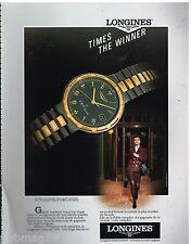 Publicité Advertising 1990 La montre Longines Conquest VHP