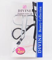 Divine Beauty Collection Eyelash Curler With Scissor Type Tweezer 2 Piece Set.