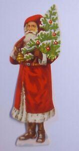 034-Oblaten-Babbo-Natale-Albero-Natale-034-1930-11-cm-x-4-cm-61696