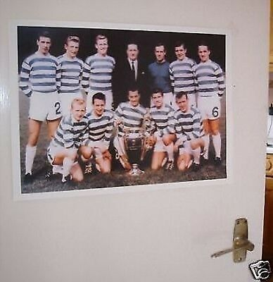 Celtic Lisbon Lions 1967 Billy McNeill Walk Poster
