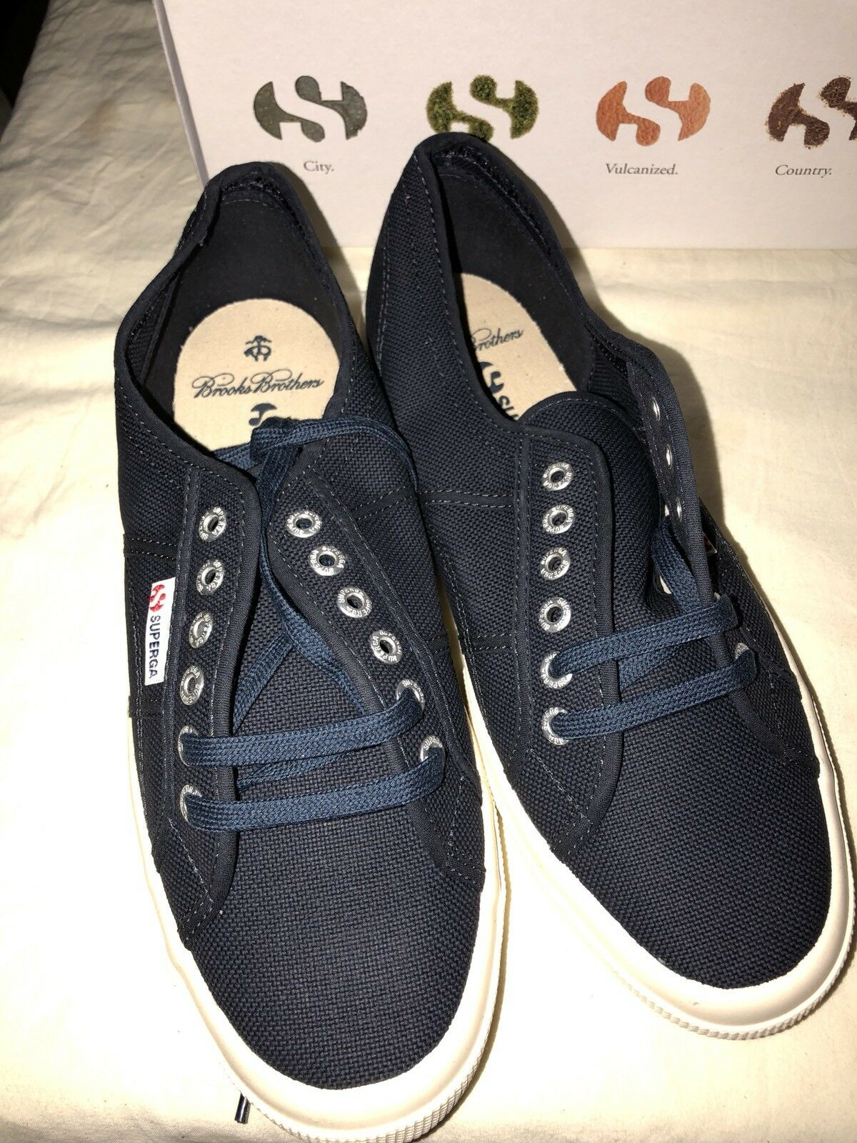 Superga X Brooks Bredhers Mens Cotu Classic Canvas shoes Lace Up Sneakers Navy