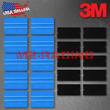 3M Blue Vinyl Wrap Squeegee Applicator Tool x10 Set Felt Edge Decal Tips x10 kit