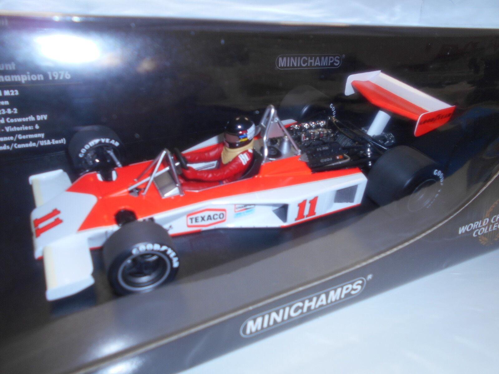 MIN186760011 by MINICHAMPS MCLAREN FORD M23 1976  11 JAMES HUNT 1 18