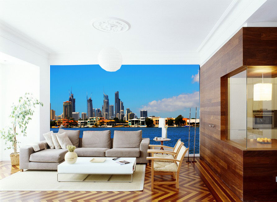 3D Città Ocean 23 Parete Murale Foto Carta da parati immagine sfondo muro stampa