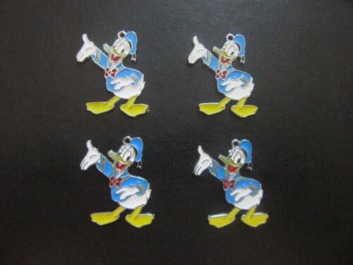 DONALD DUCK CHARMS PENDANTS ENAMEL METAL MICKEY MINNIE AVAILABLE