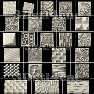 27-3D-STL-Models-Wall-Panels-for-CNC-Router-Carving-Machine-Artcam-aspire-Cut3D