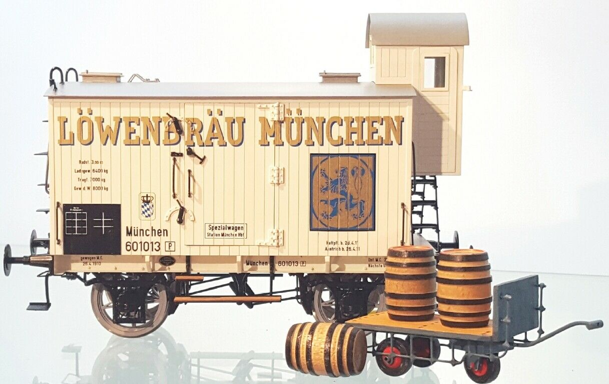 elige tu favorito Fine Fine Fine Models Escala 1 Furgoneta Cerveza Cochero Vagón de Mercancía Latón  calidad de primera clase