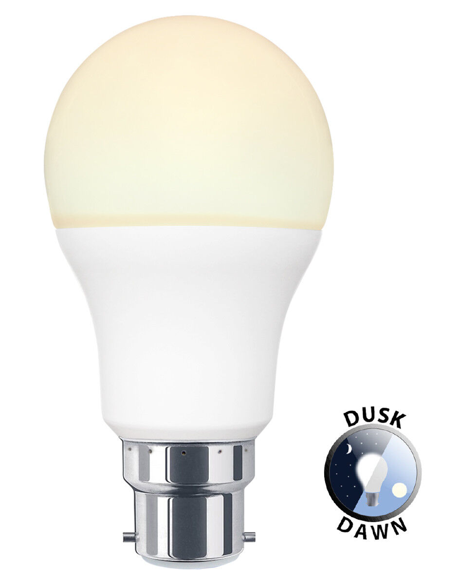 Dusk Till Dawn Sensor 9w Led Light Bulb B22 Or E27 A60 Security Light Bulbs