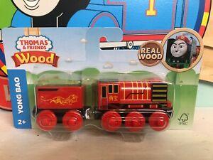 Yong-Bao-New-in-Box-NIB-THOMAS-amp-FRIENDS-TRAIN-ENGINE-WOODEN-RAILWAY-WOOD