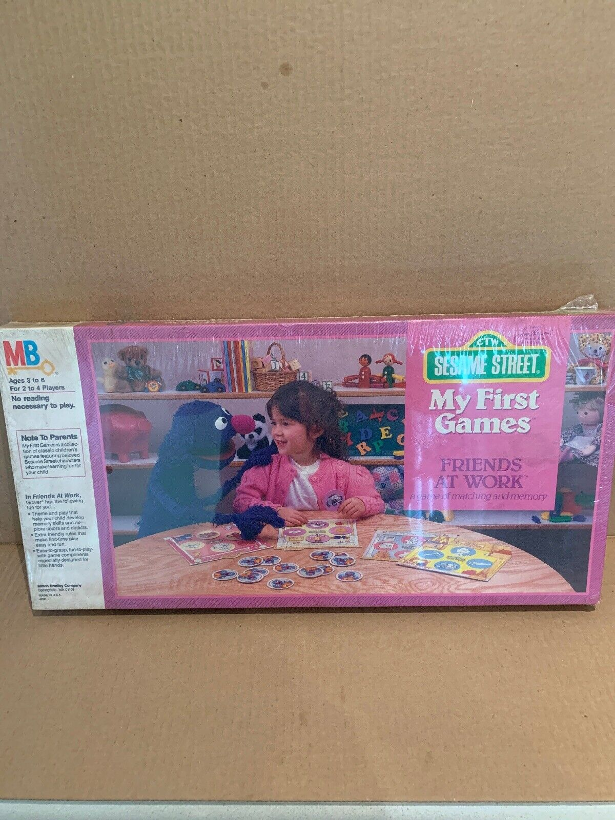 Vintage 1986 Jim Hensons Sesame Street My First Games Friends At Work NIB Sealed