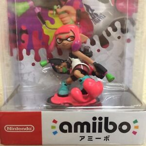 Nintendo-Amiibo-Inkling-Girl-Neon-Pink-Splatoon-series-Free-Shipping-NEW-JAPAN