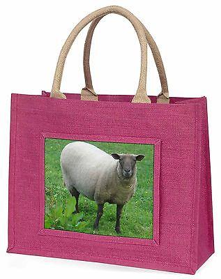 Schaf Fasziniert von Kamera Große Rosa Einkaufstasche Weihnachtsgeschenk